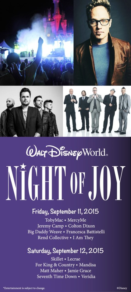 'Sold Out' Disney's Night Of Joy 2015 will be Streamed Live 7