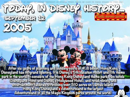 Today In Disney History ~ September 12th 8
