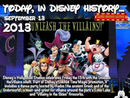 Today In Disney History ~ September 13th 1