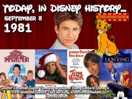 Today In Disney History ~ September 8th 2