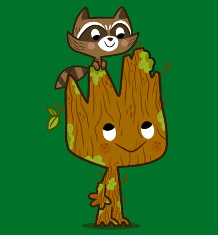 Kermit The Frog Vs. Rocket and Groot In TeeFury TwoFury Today!!! 1