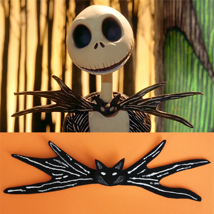 Jack Skellington Inspired Bow Tie or Hair Clip 6