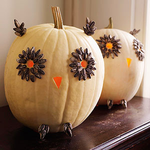 TMSM Pumpkin Art~ Owls 14