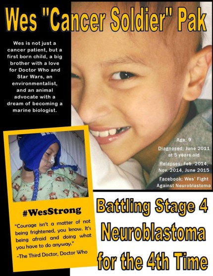 Wes' Fight Against Neuroblastoma ~ Childhood Cancer Awareness Month 6