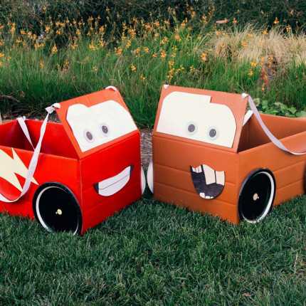 Lightning McQueen & Mater Box Car Costumes 5