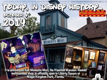 Today In Disney History ~ October 6th 1