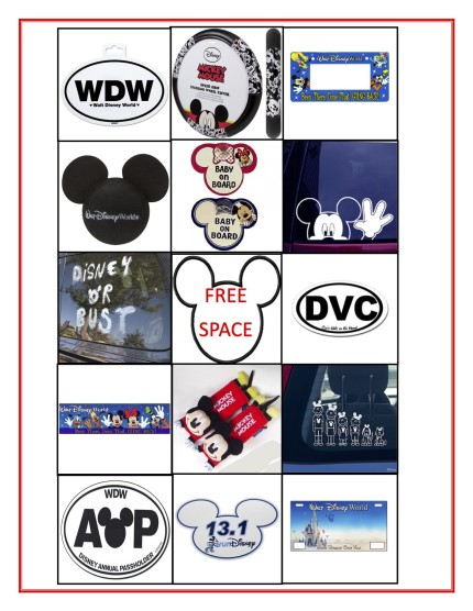 photo about Disney Bingo Printable named Printable Disney Street Vacation Video games