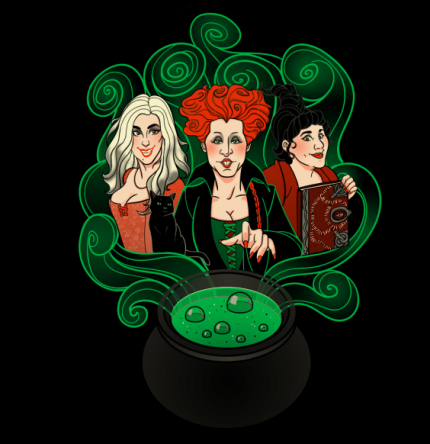 The Harry Potter Trio Vs The Sanderson Sisiters In Today's TeeFury TwoFury!!! 1