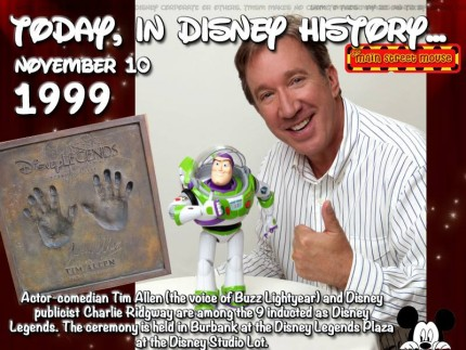 Today In Disney History ~ November 10th 2