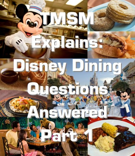 TMSM Explains: Disney Dining Questions Answered Part 1 4