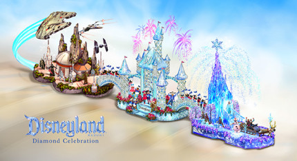 Disneyland Resort Diamond Celebration Float to Dazzle at 2016 Rose Parade 13