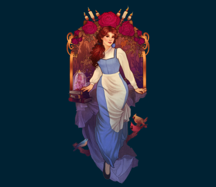 Belle Inspired Image Today Against Tesla In TeeFury TwoFury Competition!!! 9