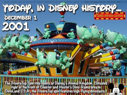 Today In Disney History ~ December 1st 2
