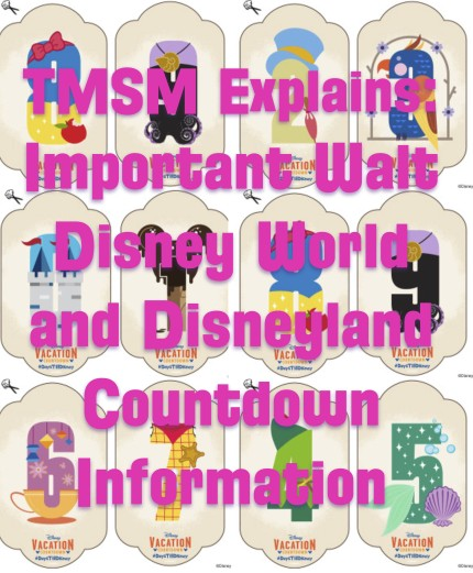TMSM Explains: Important Walt Disney World and Disneyland Countdown Information 2