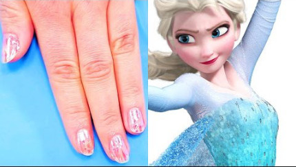 These Frozen-Inspired Shattered Glass Nails Are Perfect for New Year's Eve 2