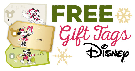 Mickey & Friends Christmas Gift Tag Stickers 1