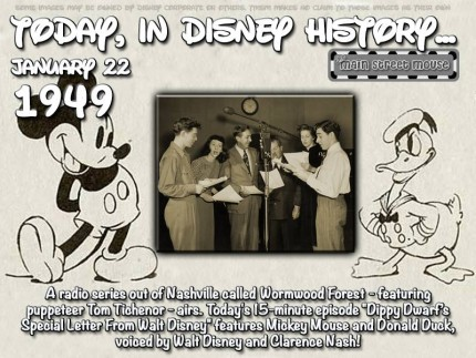 Today In Disney History ~ January 22nd 5
