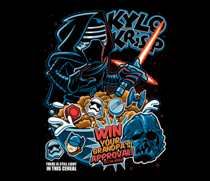 "Star Wars Inspired ""Cereal"" Style Cover TeeShirts Today At TeeFury!!! 4"