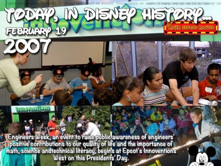 Today In Disney History ~ February 19th 1