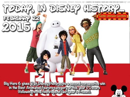 Today In Disney History ~ February 22nd 5