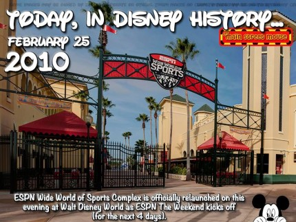 Today In Disney History ~ February 25th 2
