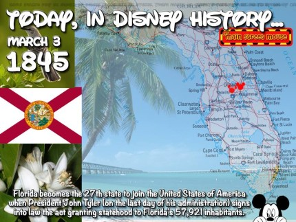 Today In Disney History ~ March 3rd 1