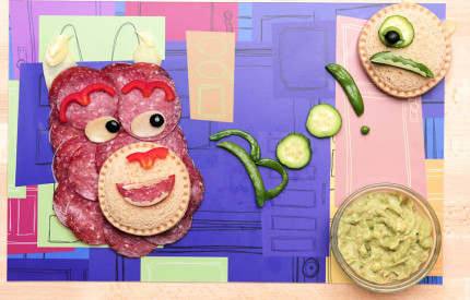 Mike and Sulley-Inspired Food Art 6