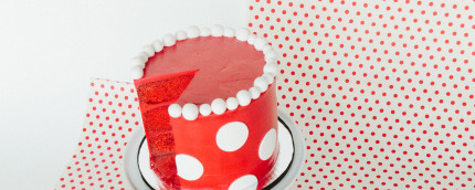 Minnie Mouse Polka Dot Cake #MinnieStyle 1