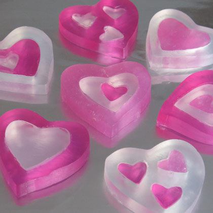 Homemade Heart Soaps 3