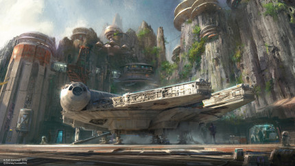 Star Wars: Galaxy's Edge Construction Milestone Celebrated at Disneyland Park 20