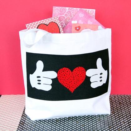 Mickey's Valentine Tote ~ Cute Craft Idea! 2