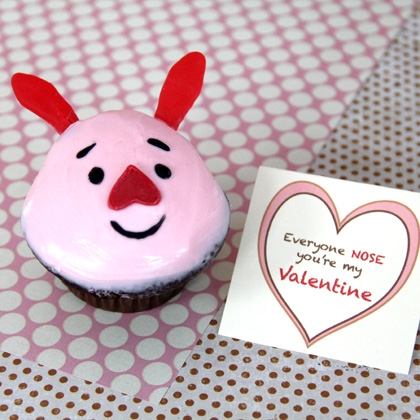 Piglet's Valentine Cupcake Recipe 2