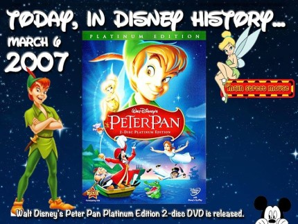 Today In Disney History ~ March 6th 1