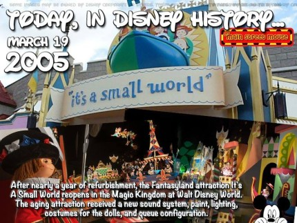 Today In Disney History ~ March 19th 1