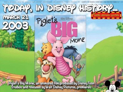 Today In Disney History ~ March 21st 1