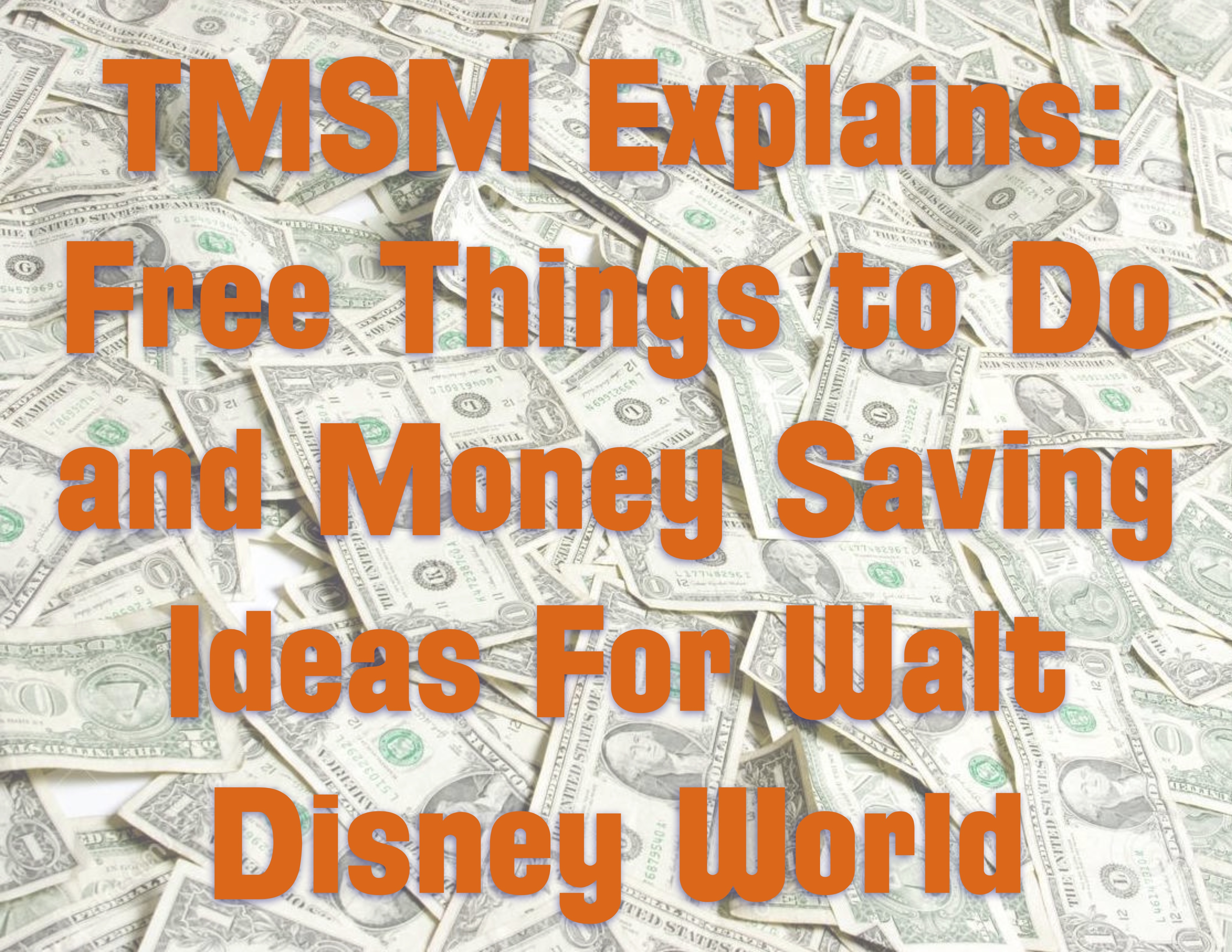 TMSM Explains: Free Things to Do and Money Saving Ideas For Walt Disney World Part 3 1