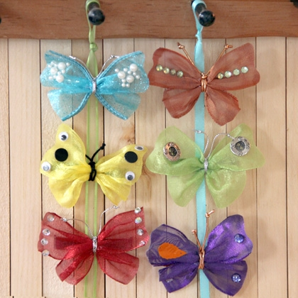 Make Your Own Fairy Butterfly Barrettes and Pins 4