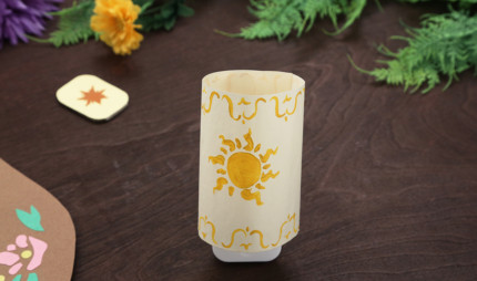 Tangled Night Light Lantern ~ Summer Craft Idea 21