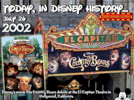 Today In Disney History ~ July 26th 3