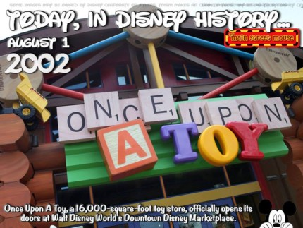 Today In Disney History ~ August 1st 1
