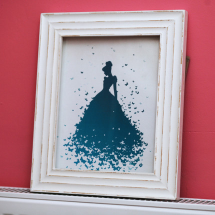 Cinderella Silhouette Art Craft 37