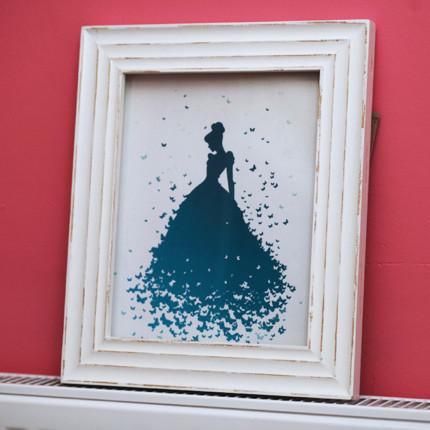 Cinderella Silhouette Art Craft