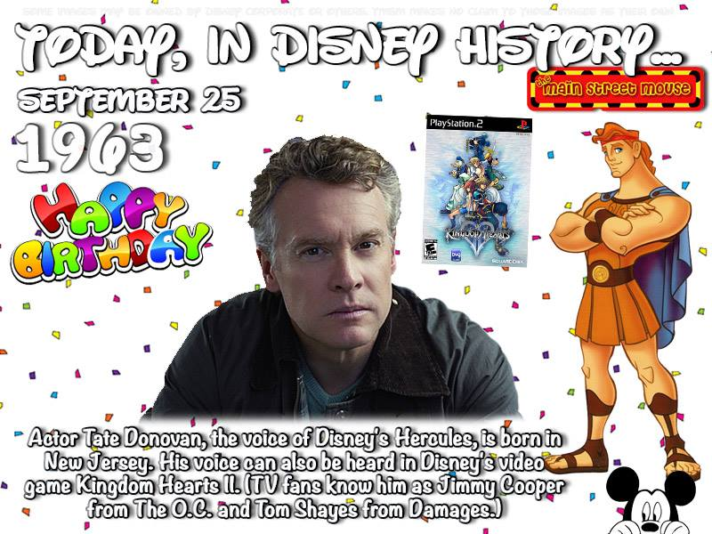 Today In Disney History ~ September 25th 5