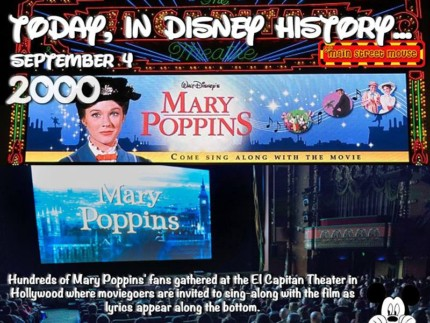 Today In Disney History ~ September 4th 4