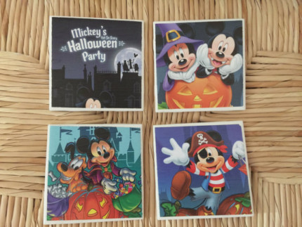 Mickey's Not So Scary Halloween Party, Park Map Coasters! 6