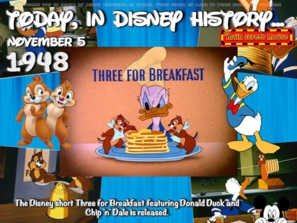 Today In Disney History ~ November 5th 5