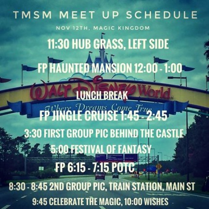 TMSM Meet Up, Nov 12th, Magic Kingdom! Details and Reminders! 6
