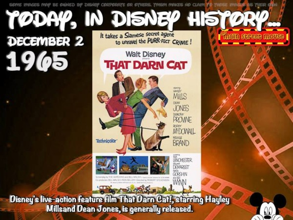 Today In Disney History ~ December 2nd 1