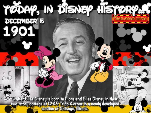 Today In Disney History ~ December 5th 1