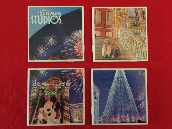 #ShopSmall New Christmas Disney Park Map Coasters! 3